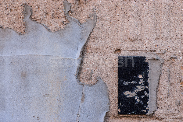 plastered wall with a ceramic tile Stock photo © Zhukow