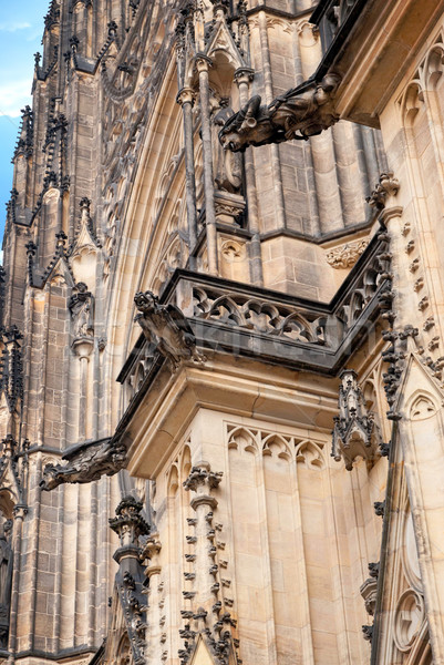 Kathedraal kerk heilig Praag Tsjechische Republiek gebouw Stockfoto © Zhukow