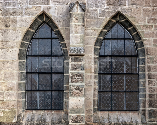 Old church window showing much detail and texture Stock photo © Zhukow