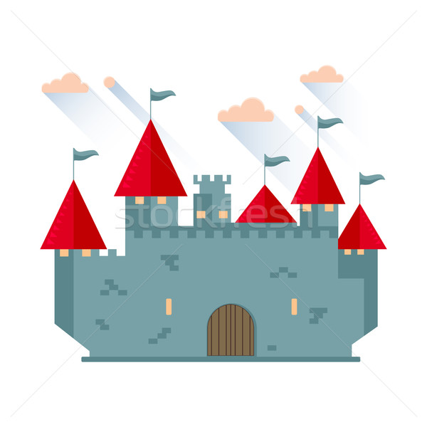 Cartoon fairy tale castle tower. Stock photo © Zhukow