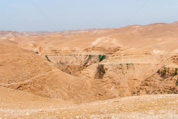 Wadi Qelt in Judean desert around St. George Orthodox Monastery Stock photo © Zhukow