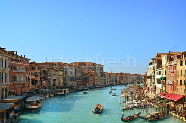 Belo água rua Veneza Itália canal Foto stock © Zhukow