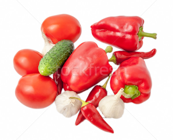vegetables scattered on the white background Stock photo © Zhukow