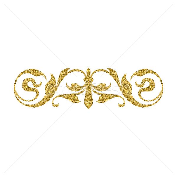 золото блеск Swirl Vintage орнамент Сток-фото © Zhukow