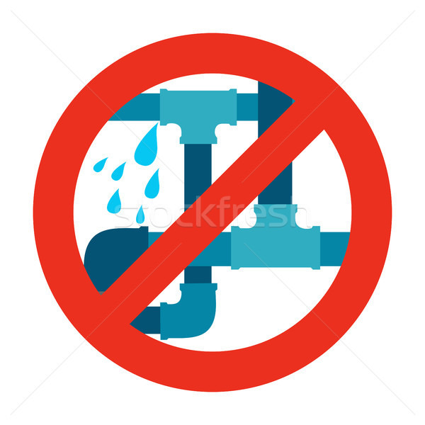 No water leak, pipe icon sign. Stock photo © Zhukow