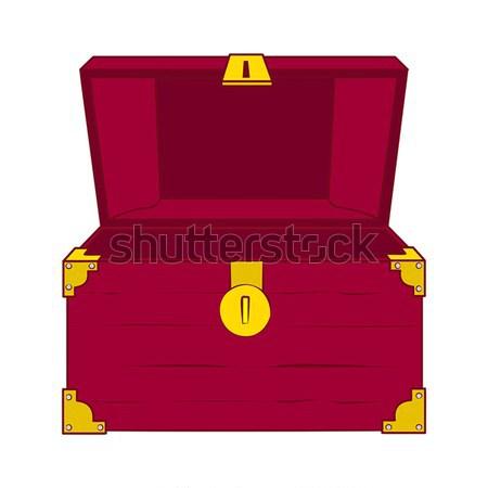 Open lege schatkist illustratie houten niets Stockfoto © Zhukow