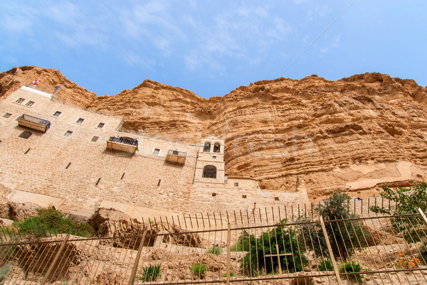 St. George Orthodox Monastery is located in Wadi Qelt. Stock photo © Zhukow