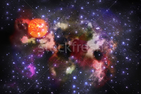 Abstract fantastic space storm Stock photo © Zhukow