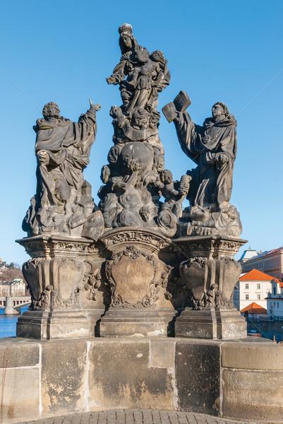 Photo stock: Sculpture · pont · Prague · République · tchèque · statue · célèbre