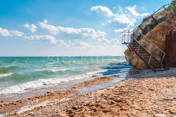 Background with View of Odessa gulf, Ukraine. Stock photo © Zhukow