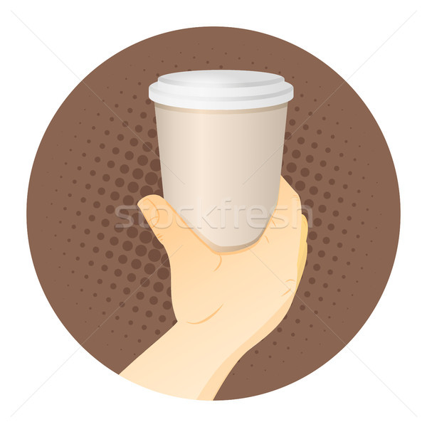 Paper Coffee Cup in Hand Stock photo © Zhukow