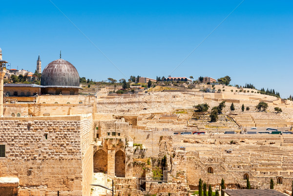 Jerusalem - View on the Mount of Olives from Al-Aqsa mosque Stock photo © Zhukow
