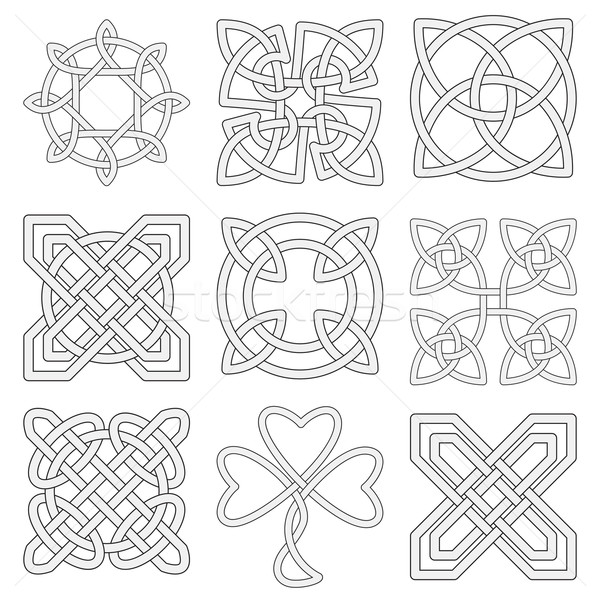 Collection of Celtic knots  Stock photo © Zhukow