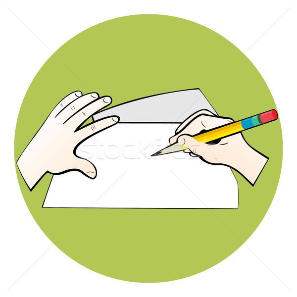 Writing on paper. Stock photo © Zhukow