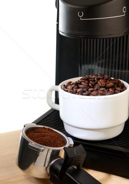 кофеварка машина белый чашку кофе кофе Сток-фото © Zhukow