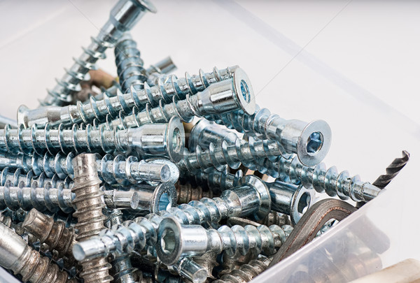 Toolbox , Box for metal bolt, nut, screw, nail Stock photo © Zhukow
