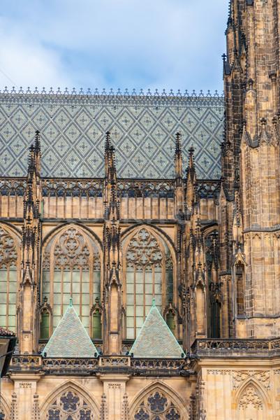 St. Vita`s Cathedral in Prague Stock photo © Zhukow