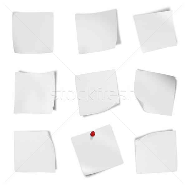 Gyűjtemény különböző prospektus fehér papír egy Stock fotó © Zhukow