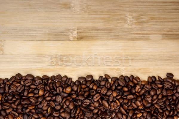 Stock fotó: Köteg · kávé · egyszerű · csík · keret · természetes