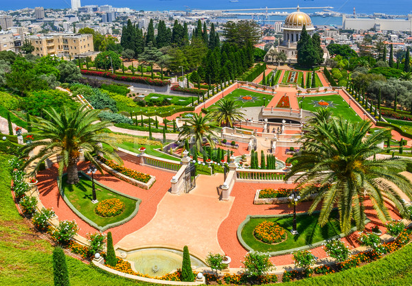 A beautiful picture of the Bahai Gardens in Haifa Israel. Stock photo © Zhukow