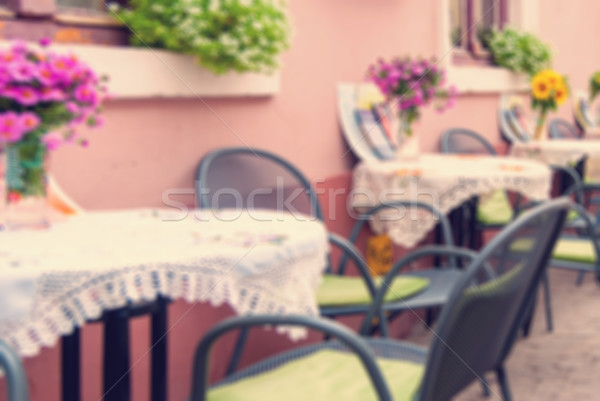 Vintage coffee shop strada Blur abstract amore Foto d'archivio © Zhukow