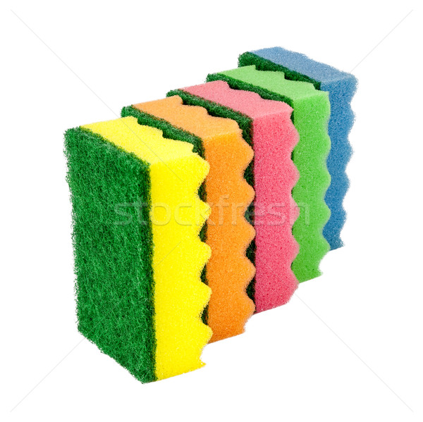 Sponges for cleaning, isolated on white background Stock photo © Zhukow