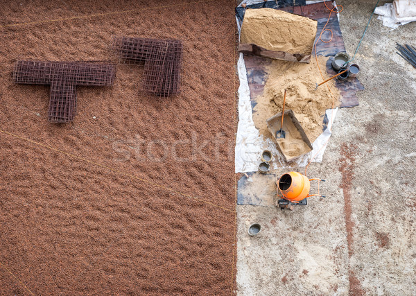 Stock photo: construction site, the top view
