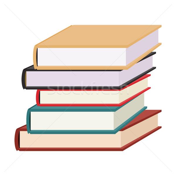 Stack of books vector illustration. Stock photo © Zhukow