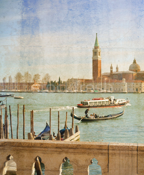 Grand Canal in Venice, Italy, artwork in painting style Stock photo © Zhukow