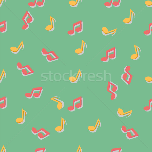 Pattern with music notes Stock photo © Zhukow