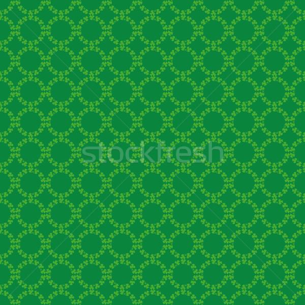 Körkörös minta Írország lóhere ír shamrock Stock fotó © Zhukow