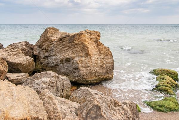 Stones at the seashore Stock photo © Zhukow