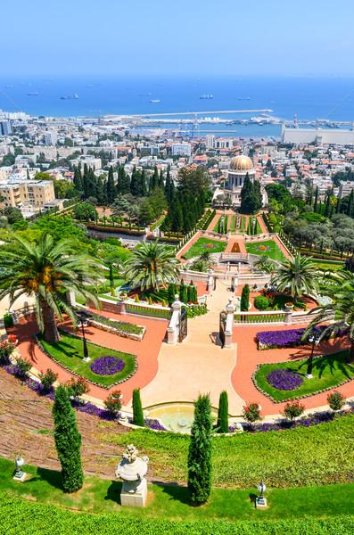 A beautiful picture of the Bahai Gardens in Haifa Israel. Stock photo © Zhukow