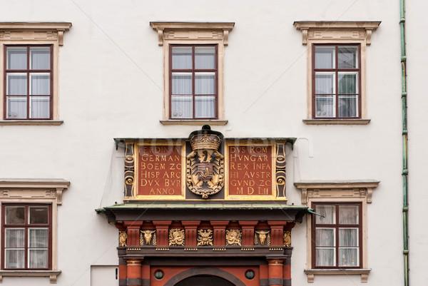 Wiedeń Austria budynku miasta zamek czerwony Zdjęcia stock © Zhukow