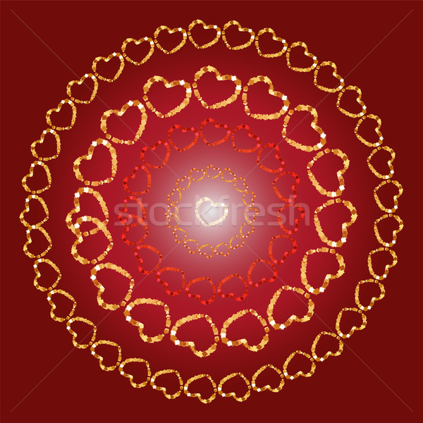 Valentine fill with heart background. Stock photo © Zhukow