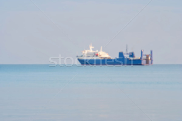 Cargo ship, blur abstract background Stock photo © Zhukow