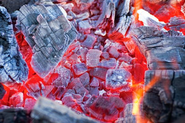 сжигание уголь текстуры свет фон красный Сток-фото © Zhukow