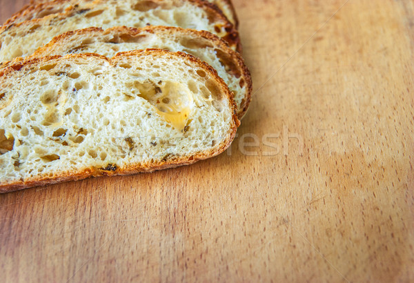 Closeup of sliced bread on a chopping board Stock photo © Zhukow