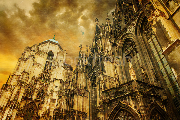 Vienna - st. Stephen cathedral or Staphensdom Stock photo © Zhukow