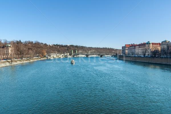 Vltava River, Prague, Czech Republic Stock photo © Zhukow