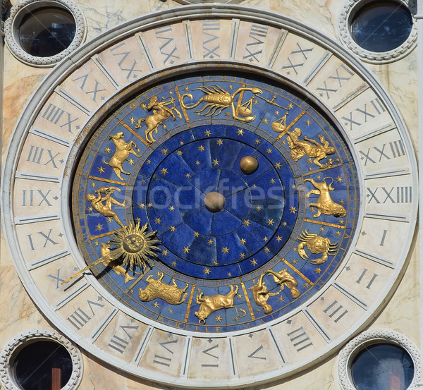 Astronomical Clock Tower. St. Mark's Square (Piazza San Marko), Venice, Italy. Stock photo © Zhukow