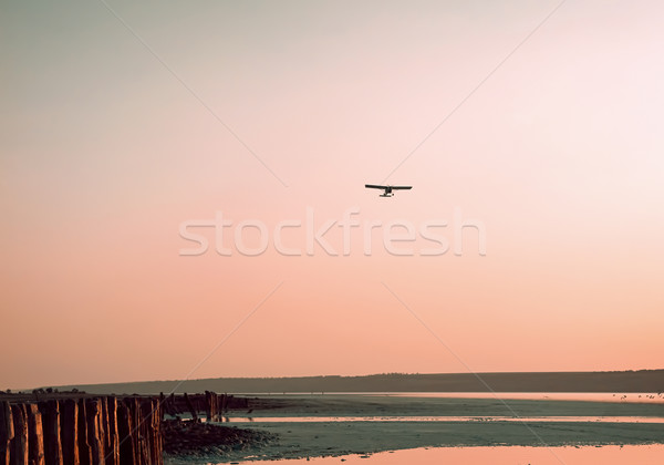 The plane on a background of the sky Stock photo © Zhukow
