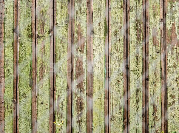 Velho cerca com madeira construção Foto stock © Zhukow