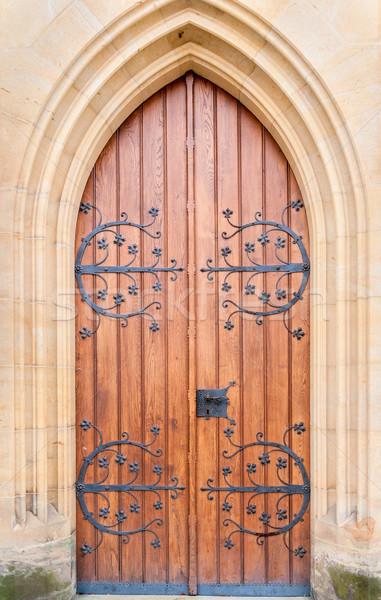 Historical ornate  door , Kutna Hora, Czech Republic Stock photo © Zhukow