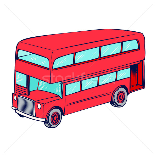 Double decker red bus Stock photo © Zhukow