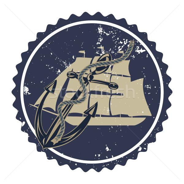 Vintage anchor typography. Stock photo © Zhukow