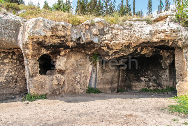 Caves located in Lachish region of Israel Stock photo © Zhukow