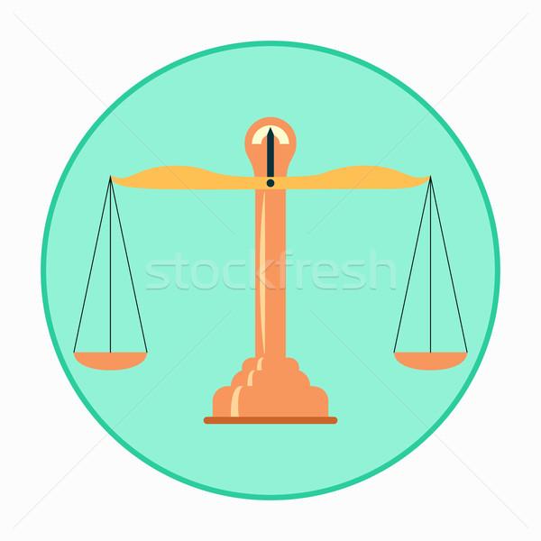 Vector Balance Scales Stock photo © Zhukow