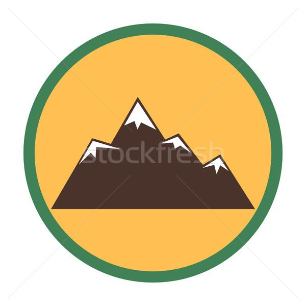 Mountain peaks with snow Stock photo © Zhukow