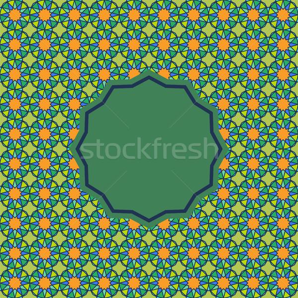 Streszczenie wzór arabski stylu bezszwowy wektora Zdjęcia stock © Zhukow
